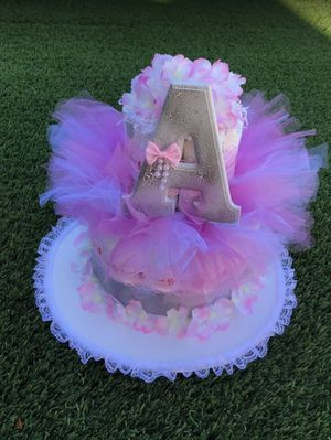 NEW! Ballarina Themed Diaper Cake, Tutu Ballarina Diaper Cake, Baby Girl Diaper Cake, Baby Shower Gift, New Born Gift, Welcome Baby for Sale in Los Angeles, CA