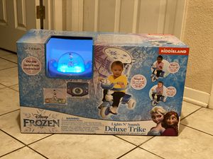 New Disney Frozen Deluxe 3 in 1 Trike with lights and sounds for Sale in Beaumont, TX
