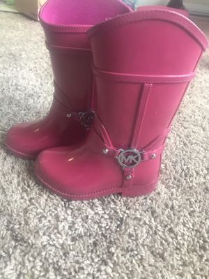 Kids Michael Kors rain boots Size 7 for Sale in Sudley Springs, VA