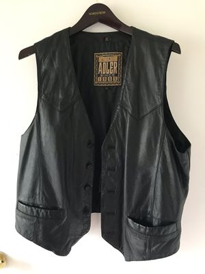 Authentic Adler Men's leather motorcycle vest for Sale in Los Angeles, CA