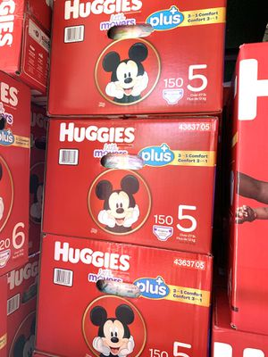 Huggies little movers size 5(150) diapers $47 per box for Sale in Gardena, CA