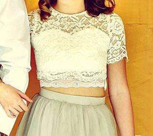 Crop top high waist skirt flower girl dress for Sale in Pflugerville, TX