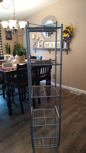 Metal bathroom organizer,5 ft tall 1 ft deep,1 ft wide. for Sale in Bonney Lake, WA