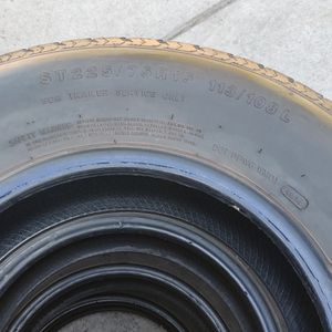 Trailer tires 70 percent tread rated D for Sale in Chula Vista, CA