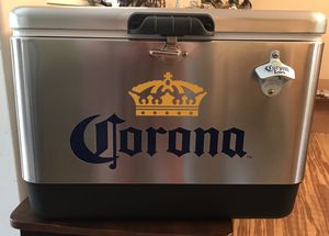 Corona 54 quart Steel Belted Cooler with bottle opener for Sale in Galloway, NJ