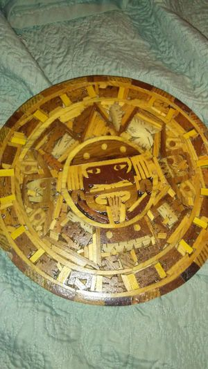 Handmade with wood chips Aztec calendar for Sale in Guadalupe, AZ