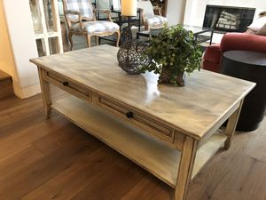 eautiful one of a kind high quality heavy solid wood modern farm house coffee table for Sale in Bothell, WA