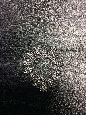 Silver heart charm for Sale in Hamtramck, MI