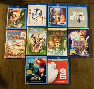 Disney blu ray and dvd collection for Sale in Wasco, CA