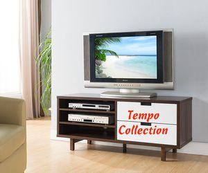 NEW, TV STAND - Dark Walnut-White, SKU# 161478 for Sale in Huntington Beach, CA