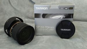 Tamron SP 24-70mm Zoom Lens for Canon for Sale in San Diego, CA