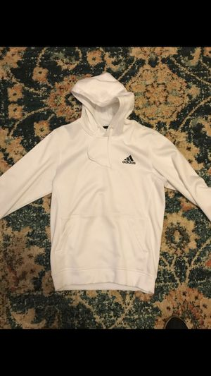 White Adidas Men hoodie size S or M for Sale in Worth, IL