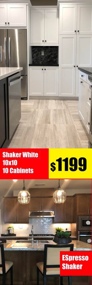 White Shaker White Kitchen Cabinet 10x10 total 10 Cabinets only 1199 for Sale in Anaheim, CA