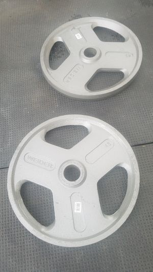 ( EXERCISE FITNESS 365 ) BRAND NEW PAIR OF 45 LBS OLYMPIC WEIGHTS WITH EASY GRIP HANDLES for Sale in Long Beach, CA