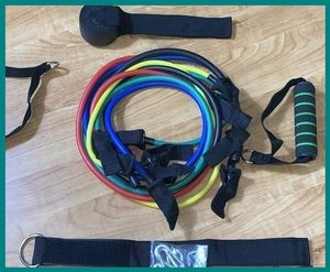 Gym Resistance Bands 11 pcs yoga Zumba weightlifting for Sale in San Fernando, CA