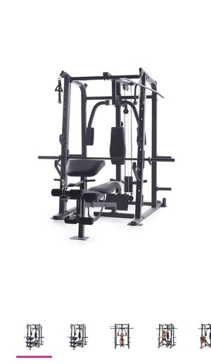 Weider Pro 8500 Smith Cage Strength Trainer with Plate Storage for Sale in Monterey Park, CA