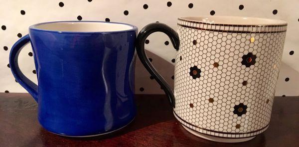Anthropologie monogram initial mug L