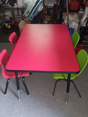 Kids table and 4 chair set for Sale in Sterling, VA