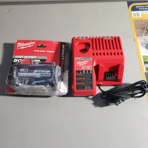 Milwaukee M18 18-Volt Lithium-Ion HIGH OUTPUT Starter Kit with XC 8.0Ah Battery and Charger for Sale in Bakersfield, CA