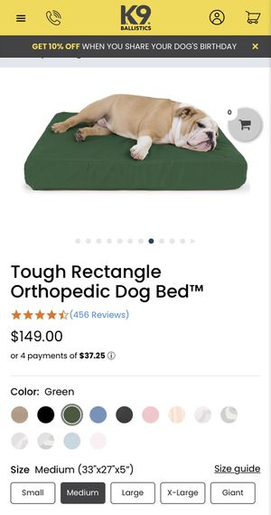 BRAND NEW: medium sized chewproof and orthopedic dog bed!! for Sale in Chicago, IL