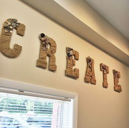 Burlap Letters Customized for Sale in Nocona,  TX