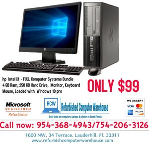Hp i3 Desktop Computers for SALE! for Sale in Fort Lauderdale, FL