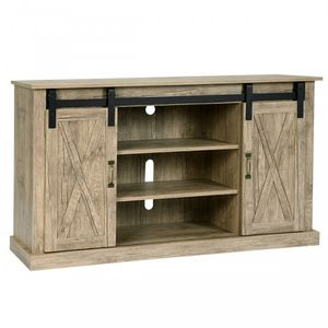 Barn style sliding door tv stand for Sale in Beaumont, CA