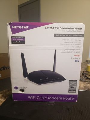 Netgear AC1200 Wifi Cable Modem Router for Sale in Boston, MA