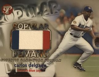 2002 Topps Pristine Popular Demand /1000 Carlos Delgado #PD-CD for Sale in Edwardsville,  IL