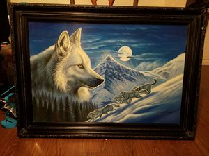 Kaiser wolf over wolf pack painting for Sale in El Paso, TX