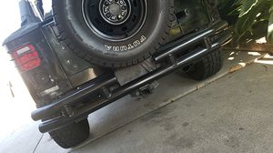 Jeep wrangler rear bumper with tow hitch for Sale in Alhambra, CA