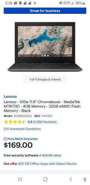 Lenovo 100e chromebook laptop for Sale in Castleton, IN