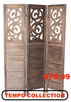 3 Panel Room Divider, Brown, 7036DB for Sale in Downey, CA