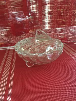 Shell Glass Dish with Lid for Sale in Duluth, GA