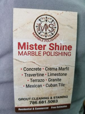 Mister Shine Marble polishing for Sale in Miami, FL