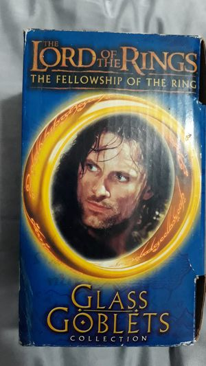The Lord of the Rings The Fellowship of the Ring Glass Goblets Collection 2001 (Strider - Viggo Mortensen) for Sale in Queens, NY
