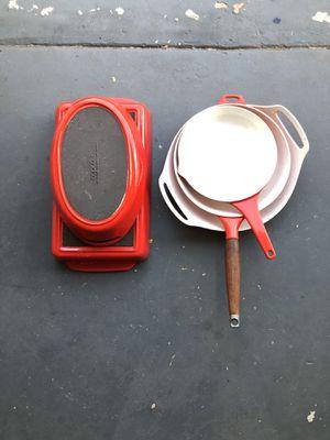 Midcentury danish enamel cookware set by copco for Sale in La Mesa, CA
