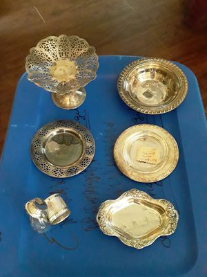 Six silver pieces for Sale in Youngsville, LA
