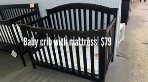 Baby crib with mattress for Sale in Fort Worth, TX