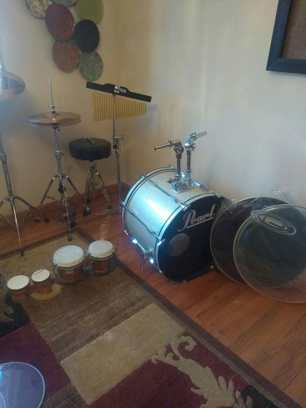 Drums package pearl + Extras