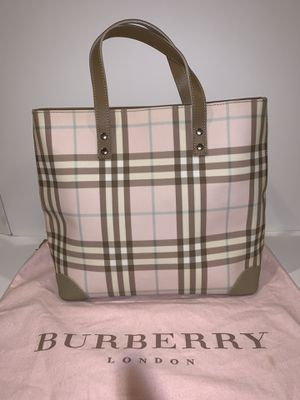 WOW !! BURBERRY Candy nova check pink small tote - immaculate condition 100% authentic for Sale in La Jolla, CA