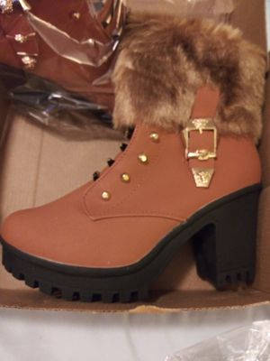 j.Pin Fox Fur High Heal Zipper Boots 2 pairs of boots for Sale in Columbus, OH