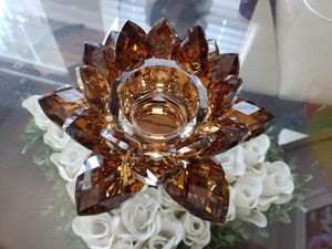 Lotus Crystal Candle Holder NEW for Sale in Tampa, FL