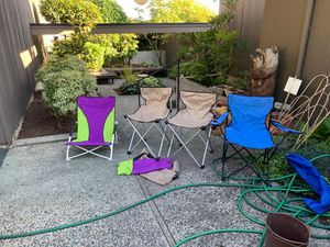 Camping Chairs $5 each for Sale in Bellevue, WA