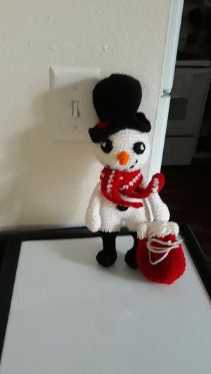 Crochet snowman for Sale in Gresham, OR
