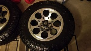 "BRAND NEW NITTO RIDGE GRAPPLERS 295/65/20 ON NEW AMERICAN OUTLAW 20"" RIMS for Sale in GRANT VLKRIA, FL"