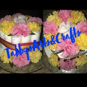 Floral diaper cake for Sale in Dallas, TX