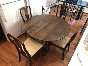 Fold out kitchen table + 4 chairs for Sale in Everett, MA