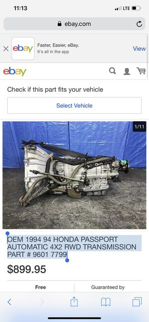 OEM 1994 94 HONDA PASSPORT AUTOMATIC 4X2 RWD TRANSMISSION PART # 9601 7799 for Sale in Pembroke Pines, FL
