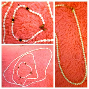 Authentic pearl necklace and bracelet for Sale in Herndon, VA